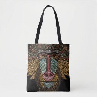 Colorful Baboon Mask Mosaic Tote Bag