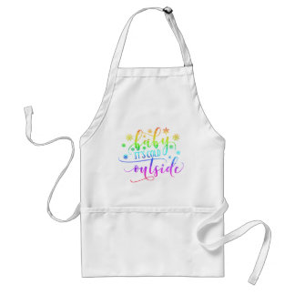 Colorful Baby It's Cold Outside Holiday | Apron