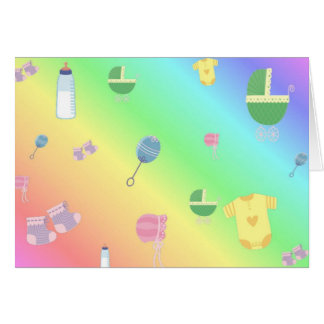 Colorful Baby Toys Greeting Card