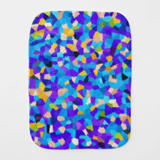 Colorful background burp cloth