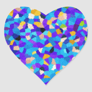 Colorful background heart sticker