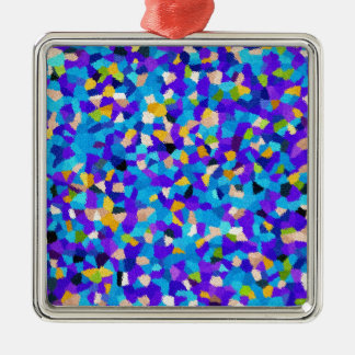 Colorful background metal ornament