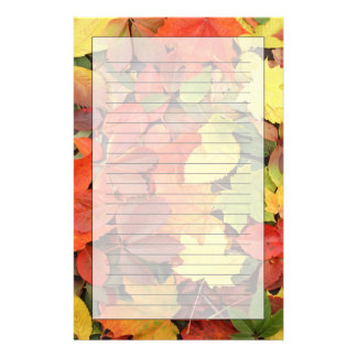 Colorful Background Of Fallen Autumn Leaves Personalized Stationery
