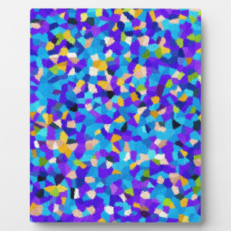 Colorful background plaque
