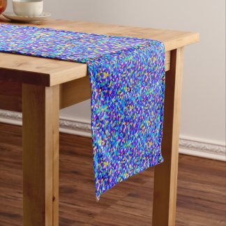 Colorful background short table runner