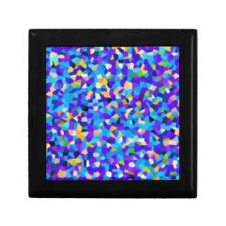 Colorful background small square gift box