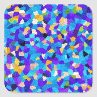 Colorful background square sticker