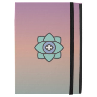 """Colorful background with a flower icon iPad pro 12.9"""" case"""