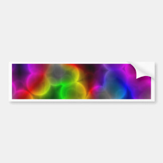 Colorful bacteria bumper sticker