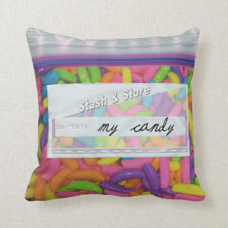 Colorful Bag of Candy Decorative Throw Pillows