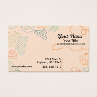 Colorful Bakery Sketch Business Card