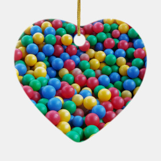 Colorful Ball Pit Balls Kids Play Ceramic Heart Decoration
