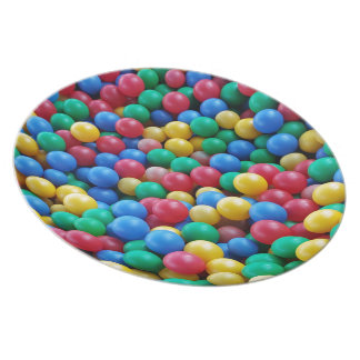 Colorful Ball Pit Balls Kids Play Plates