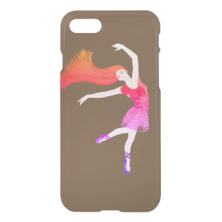 Colorful Ballerina dancing monogram iPhone 8/7 Case