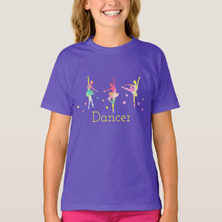 Colorful Ballerinas Dancing Tee Shirt