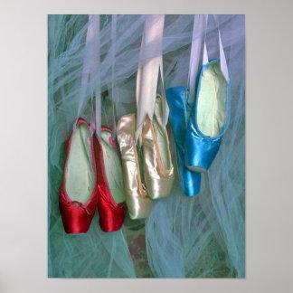 Colorful Ballet Shoes Print