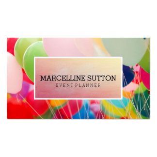 Colorful Balloon Business Card