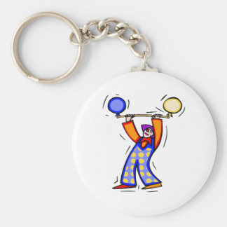 Colorful Balloon Exercise Clown Basic Round Button Key Ring