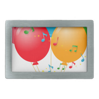 Colorful Balloons Belt Buckle