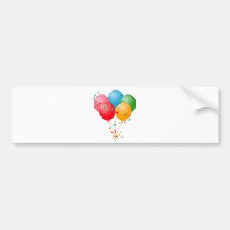Colorful Balloons Bumper Sticker