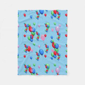 Colorful Balloons Fleece Blanket