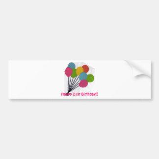 colorful balloons(kkincade12) bumper sticker