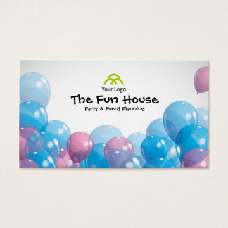 Colorful Balloons Party Planner Business Card