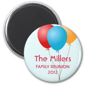 Colorful balloons summer family reunion custom magnet