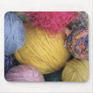 Colorful Balls of Yarn Mouse Pad
