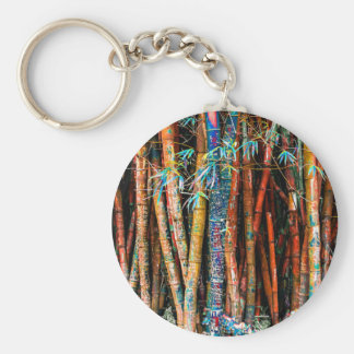 Colorful Bamboo Forest Key Ring