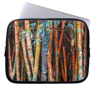 Colorful Bamboo Forest Laptop Sleeve