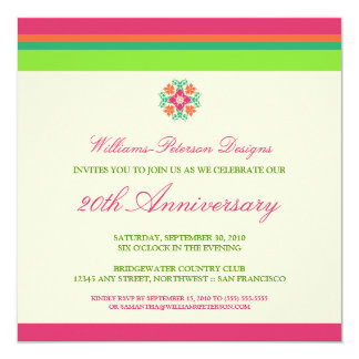 Colorful Bands Corporate Event Invitation (fuchsia
