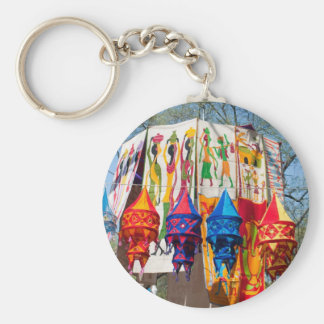 Colorful banners key chain