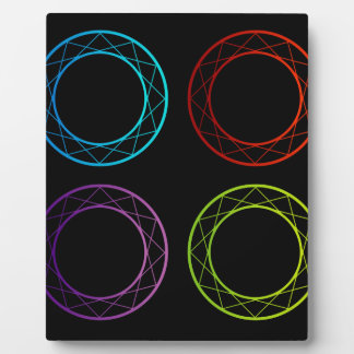 Colorful banners or design element plaques