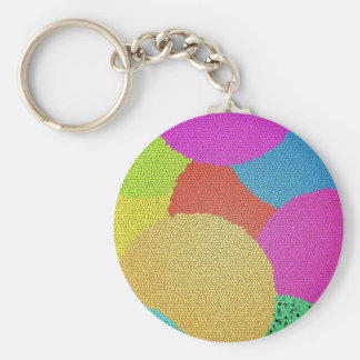 Colorful Basic Round Button Key Ring