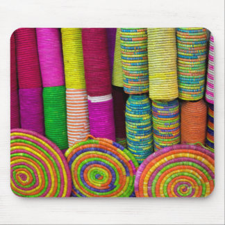Colorful Baskets At Market Mouse Pad