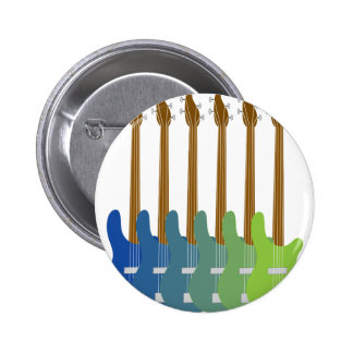 Colorful Bass Guitars 6 Cm Round Badge