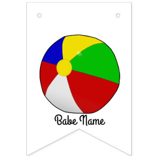 Colorful beach ball bunting