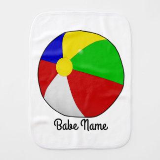 Colorful beach ball burp cloth