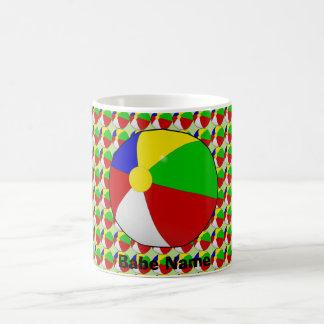 Colorful beach ball coffee mug