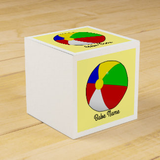Colorful beach ball party favour boxes