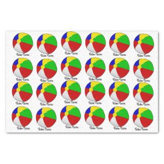 Colorful beach ball tissue paper