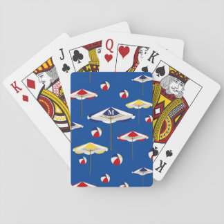 Colorful Beach Umbrella and Beach Ball Custom Playing Cards