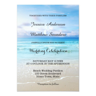 Colorful Beach Wedding Invitation