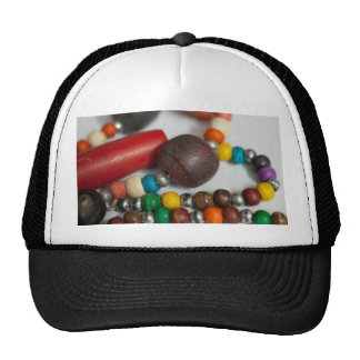 Colorful beads in chains hats