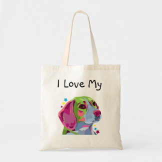 Colorful Beagle Tote Bag