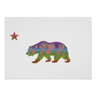 Colorful Bear Republic Poster