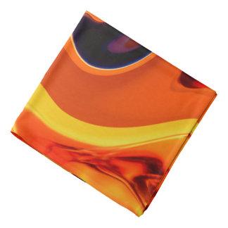 Colorful Beautiful Abstract Art Gold Swirl Bandana