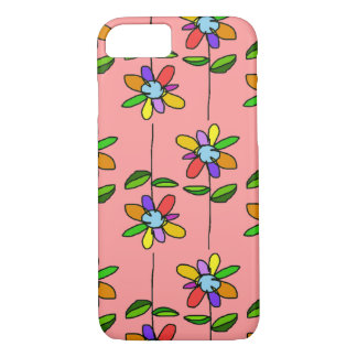 colorful & beautiful flowers pattern iPhone 7 case