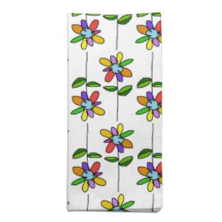 colorful & beautiful flowers pattern printed napkin